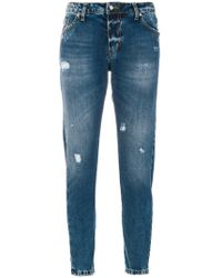John Richmond | Printed Slim-fit Jeans | Lyst