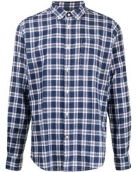 Barbour チェック シャツ - ブルー