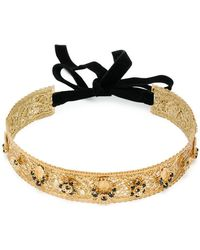Dolce & Gabbana - Embellished Hair Band - Lyst