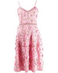 MICHAEL Michael Kors - Floral Appliqué Fitted Dress - Lyst