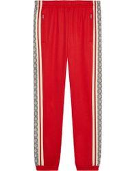 Gucci Pantalone da jogging oversize - Rosso