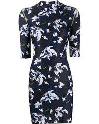 Marcelo Burlon Short Flower Print Dress - Black