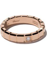 Chopard - アイスキューブ ダイヤモンドリング 18kローズゴールド - Lyst