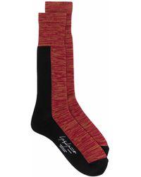 Yohji Yamamoto パターン 靴下 - レッド
