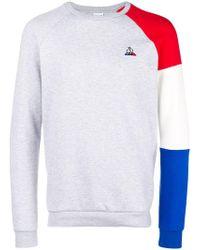 Le Coq Sportif - Colour-block Logo Jumper - Lyst