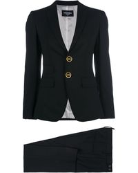 DSquared² Button-embellished Suit - Black
