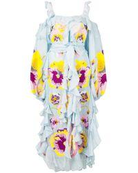 Yuliya Magdych - Floral Embroidered Dress - Lyst