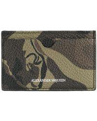 Alexander McQueen - Camouflage Cardholder - Lyst