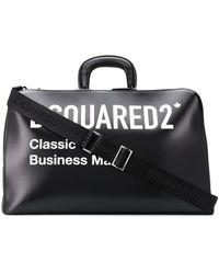 DSquared² Logo Top-handle Holdall - Black