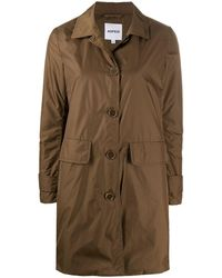 Aspesi Button-through Button Coat - Brown