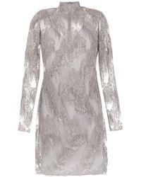 Tufi Duek Long Sleeved Tulle Dress - グレー
