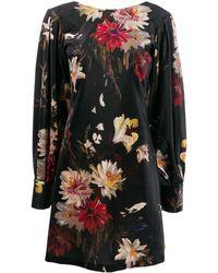 L'Autre Chose フローラル ドレス - ブラック