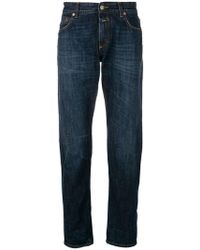 Closed - Faded Straight Leg Jeans - Lyst