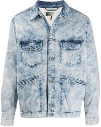 Isabel Marant フラップポケット デニムジャケット - ブルー