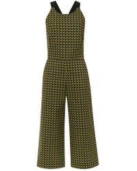 Andrea Marques - Printed Cropped Jumpsuit - Lyst