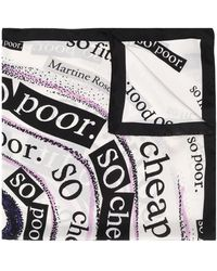 Martine Rose グラフィック スカーフ - ブラック