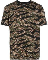 Lacoste L!ive カモフラージュ Tシャツ - ブラック