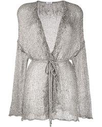 P.A.R.O.S.H. V-neck Metallic Knit Cardigan