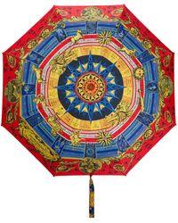 Moschino Regenschirm mit Sternzeichen-Print - Mehrfarbig