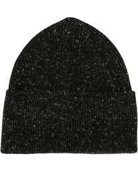Margaret Howell Ribbed Knit Beanie - Gray