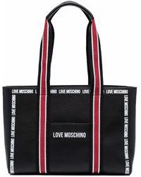 Love Moschino - ストライプ ハンドバッグ - Lyst