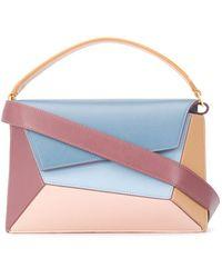 Mlouye Geometric Colour-block Shoulder Bag - Blue