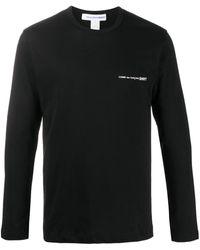 Comme des Garçons T-shirt Met Logoprint - Zwart