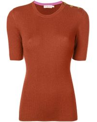 Tory Burch - Taylor Ribbed Jumper - Lyst