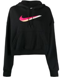 Nike Худи С Принтом Swoosh - Черный