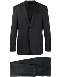 Tonello Pinstripe Single-breasted Suit - Black