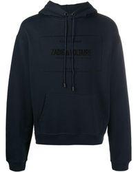 Zadig & Voltaire ロゴ ドローストリング パーカー - ブルー