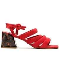 Blue Bird Shoes - Sandália Kasbah Camurça Vermelho - Lyst