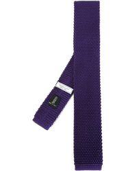 Fashion Clinic Knitted Silk Tie - Purple