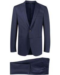 Tonello ストライプ スーツ - ブルー