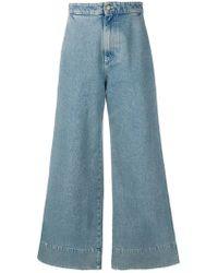 Loewe - Wide Leg Jeans - Lyst