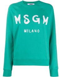MSGM - ロゴ スウェットシャツ - Lyst