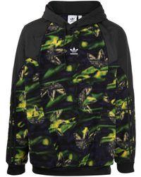adidas Sweatshirt mit Logo-Print - Schwarz