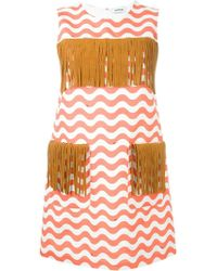 Au Jour Le Jour - Zigzag Detail Fringed Dress - Lyst