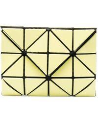 Issey Miyake Portefeuille pliant à empiècements géométriques - Jaune