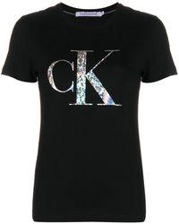 Calvin Klein ロゴ Tシャツ - ブラック