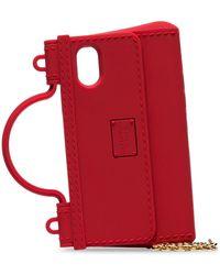 Dolce & Gabbana Funda para iPhone X con forma de bolso - Rojo