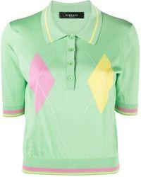 Versace Gestricktes Poloshirt - Grün