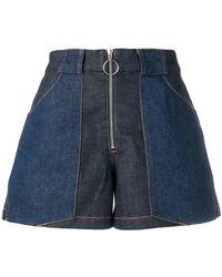 A.P.C. - Zipped Shorts - Lyst