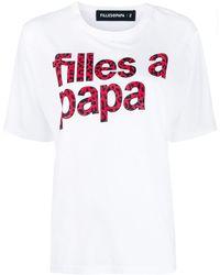 Filles A Papa ロゴ Tシャツ - ホワイト