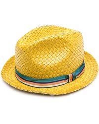 Paul Smith Соломенная Шляпа - Желтый