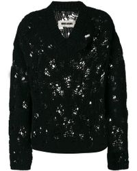 Uma Wang distressed ribbed knit sweater Really Cheap Online 8NAs70Hw04