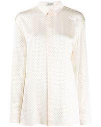 Saint Laurent Рубашка С Заклепками - Многоцветный