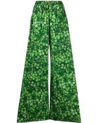 Dolce & Gabbana プリント ワイドパンツ - グリーン