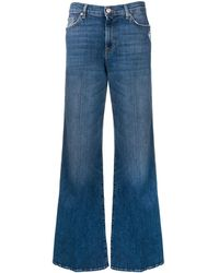 7 For All Mankind Jeans a gamba ampia - Blu