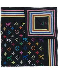 Louis Vuitton Платок Pre-owned С Монограммой - Черный